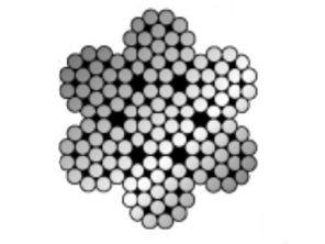 Stahlseil 7x19 4mm auf Rolle 100 mtr